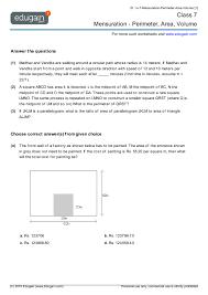 Free Printable Perimeter And Area Worksheets Grade 7 Math Worksheets And Problems Mensuration Perimeter