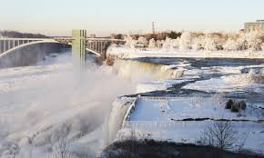 niagara falls frozen multimedia dawn