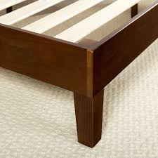 Modern Low Bed by Queen Size Modern Low Profile Solid Wood Platform Bed Frame In