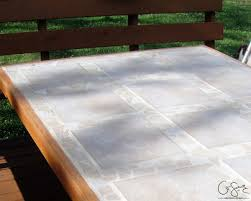 Diy Outdoor Wooden Table Top by How To Replace A Patio Table Top With Tile Patio Table Patios