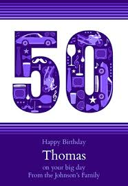 free birthday cards to text gentlemens 50th printable card customize add text and photos