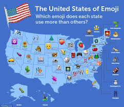 Map Of States With Capitals by The United States Of Emoji Map Reveals Vermont Is The