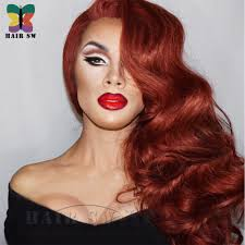 jessica rabbit jessica rabbit lace front invisible part wig cosplay drag queen