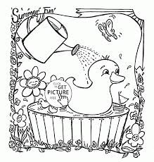free preschool summer coloring pages coloring home