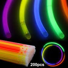 glow bracelets 200 pcs 20 cm glow sticks bracelets necklace neon colors party bag