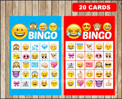 Halloween Bingo Free Printable Cards by Printable 20 Emoji Bingo Cards Printable Emojis Bingo Game