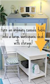 Diy Large Desk Remodelaholic Small Desk Turned Large Workspace