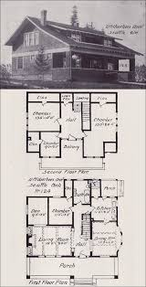 Bungalow House Plans With Front Porch 214 Best Vintage House Plans 1900s Images On Pinterest Vintage