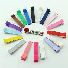 ribbon hair clip 50pcs mix colors 50mm prong alligator hair clip for kids