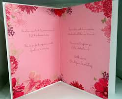 sister happy birthday flower design greeting card with a lovely