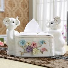 decorative tissue box modern ceramic elephant decorative tissue box home decors wedding