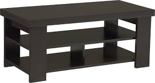 end table with shelves amazon com ameriwood home jensen coffee table espresso kitchen