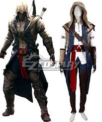Assassins Creed Halloween Costumes Creed Iii Connor Render Cosplay Costume Deluxe Version