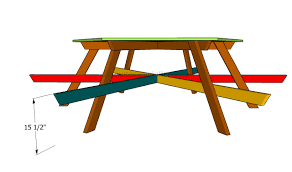 vibrant hexagon picnic table plans nice ideas octagon free and