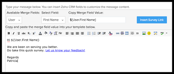working with zoho survey online help zoho crm
