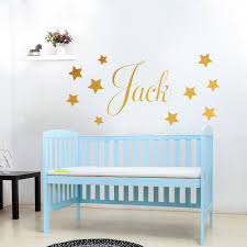 aliexpress com buy d201 baby boys wall sticker personalised aliexpress com buy d201 baby boys wall sticker personalised stars child name bedroom nursery vinyl stickers star decal for kids room home decor from
