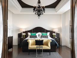 Chandelier For Cathedral Ceiling House Design Vaulted Ceiling With Black Chandelier And Bed Linens