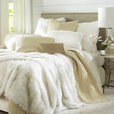 Faux Fur Blankets And Throws Faux Fur Arctic Fox Blanket U0026 Sham Pier 1 Imports