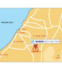 ideal resort map location map for bab al shams desert resort and spa in dubai