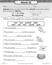 adverb exercises for class 4 adverb worksheet 2 circle