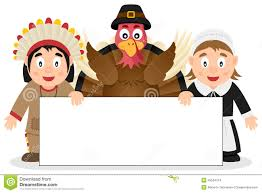 thanksgiving characters with banner 2 stock vector image 45524724