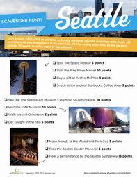 seattle scavenger hunt worksheet education com