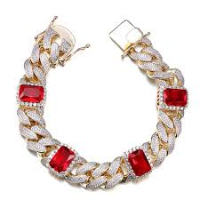 red stone bracelet images Cubic zirconia red crystal stone bracelet 2310 majesty jpg