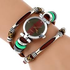 bracelet leather watches images New genuine leather watch women triple bracelet wristwatch italian jpg