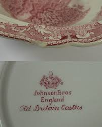 vintage 1930 s johnson bros britain castles pink covered