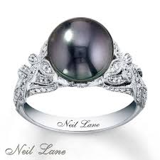 diamond pearl rings images Black pearl diamond rings wedding promise diamond engagement black jpg