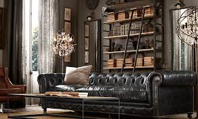 Restoration Hardware Kensington Leather Sofa Tattered Style An Infatuation For Chesterfields