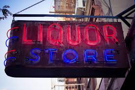 Liquor Signs Vintage Rustic Liquor Store Bar Neon Sign Photograph Art Print