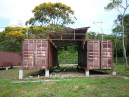 houses built out of shipping containers in shipping container