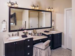 double sink bathroom vanity with makeup area bathroom vanities