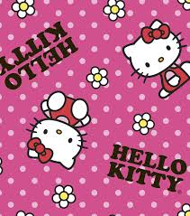licensed fleece fabric hello kitty flower toss joann