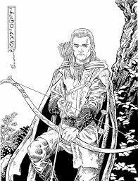 hobbit coloring free download