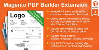 magento pdf invoice packing slip credit memo template builder