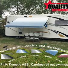 Travel Trailer Awning Replacement Fabric 11 Feet A U0026e Trailer Rv Awning Replace Fabric Ocean Blue Color