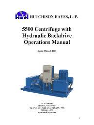 5500 centrifuge hydraulic backdrive operations manual pump
