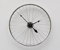 Unique Large Wall Clocks Amazon Com Bike Wheel Clock Unique Large Wall Clock Bike Clock