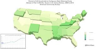 Map Snap Usa by The Astonishing State By State Rise In Food Stamp Reliance The