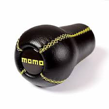 momo universal leather black shift knob manual racing mt 5speed