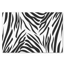 zebra tissue paper monogram black and white zebra print with hot pink tissue paper