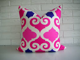 Purple Sofa Pillows by Pink Moroccan Throw Pillow Decorative Pillow Cover Fuchsia