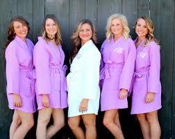 waffle robes for bridesmaids monogram waffle robe etsy