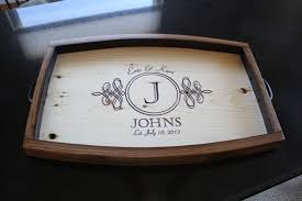 personalized tray personalized wine barrel serving tray wedding gift anniversary