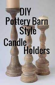 pottery barn knock candle holders and candles candle