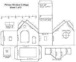 printable model house template printable windows scale model house printable template free