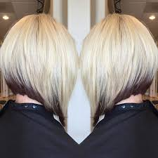 xtreme align hair cut layered a line bob hairstyle with dark roots styles weekly