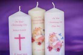 christening candles personalised christening candles picture of cheshire workshops